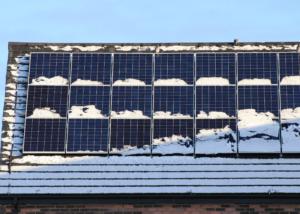 panneaux photovoltaïques hiver